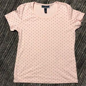 Tops - Pink polka dot t-shirt. Never worn!